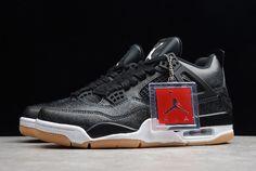 "d25d0038b85c29 2019 Air Jordan 4 SE ""Laser"" Black White-Gum Light Brown CI1184"