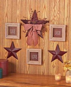 6 Pc Inspirational Sentiment Star Wall Frame Decor (Burgundy Live Love Laugh) - A product at a great price.If you have been looking for a cheap rustic decor rev