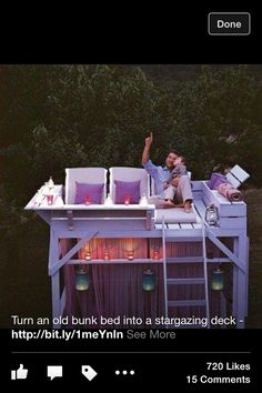 Bunk bed upper and lower deck
