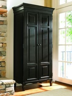 Summer Hill 2 Door Tall Cabinet by Universal - Belfort Furniture - Armoire Washington DC, Northern Virginia (NoVA), Maryland, and Dulles, VA Tall Cabinet With Doors, Cabinet Doors, Cabinet Stain, Entryway Cabinet, Wood Storage Cabinets, Tall Cabinet Storage, Storage Shelves, Ikea, Tall Kitchen Pantry Cabinet