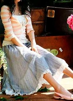 skirt and cardigan <3