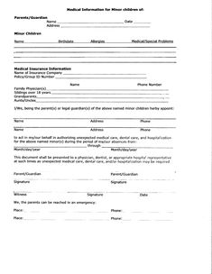 Medical Release Form