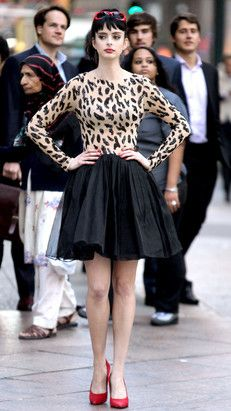 Krysten Ritter wears this super cute leopard print outfit! Come by Luxe Apothetique in Destin for more leopard print dresses and outfits.