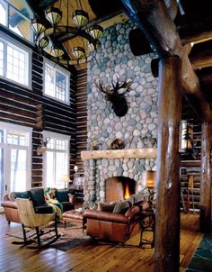 Walloon Lodge Fireplace