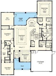 2247 sq ft Plan 33000ZR: Award Winning Energy Saving House Plan