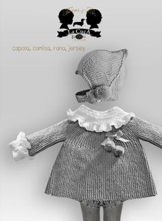 La Cuca Little Girl Fashion, Toddler Fashion, Kids Fashion, Knit Baby Dress, Knitted Baby Clothes, Crochet Girls, Crochet Baby, Knitting For Kids, Baby Knitting