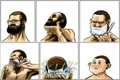 This is so true. Why is it that, as soon as a dude shaves his beard, he looks like a baby-faced kid? View the post: http://ornge.me/1hsLYzF