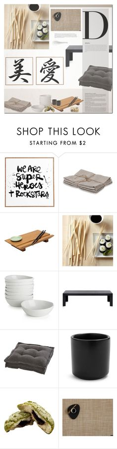 """""""Sushi Night"""" by fyenksfiona ❤ liked on Polyvore featuring interior, interiors, interior design, home, home decor, interior decorating, DENY Designs, Couleur Nature, Joyce Chen and Williams-Sonoma"""