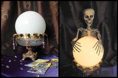 DIY Halloween Crystal Ball with a full tutorial... Absolutely love it!