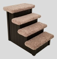 15H X 14W X 18D | Wobble Free Wood Dog Stairs for Dogs 5-15 Lbs Customize /&  Choose Any Color Made in USA by Hampton Bay Pet Steps