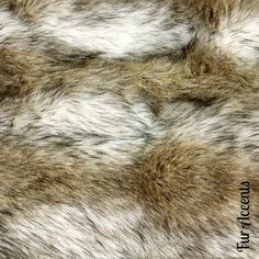 Potential material | Premium Faux Fur Fabric / Cutting / Swatch / Sample/ Piece / Remnants / Coyote Stripe Shag
