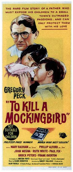 A movie poster from To Kill A Mockingbird