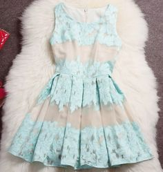 Baby blue pleated dress