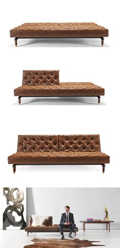 High-class, and high-function - Convertible tufted couch/sofa bed.