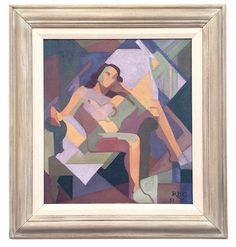 "Rose Brigid Ganly, HRHA - ""Female Nude - Oil on canvas laid on board, x Oil On Canvas, Mona Lisa, Art Gallery, Nude, Paintings, Sculpture, Female, Board, Artwork"