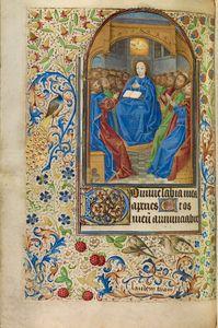 Pentecost, French, about 1466 - 1470 Ms. Ludwig IX 11, fol. 44v