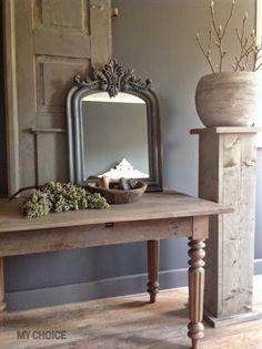 My Choice - via dewemelaer. French Country Living Room, French Country Style, French Country Decorating, Rustic Elegance, Modern Rustic, World Of Interiors, Shabby, Rustic Interiors, Beautiful Interiors