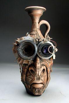 Steampunk Face Jug folk ...