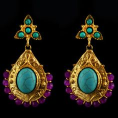 Antique Turquoise Earrings, $29, now featured on Fab.
