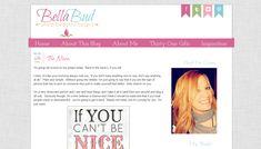 Custom Blog Design - Bella Bud - Blogger