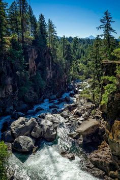 A dam lowered inlets to Rogue River, baring AVENUE OF THE GIANT BOULDERS. Short…
