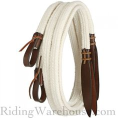 Tory Flat Braided Cotton Snaffle Split Reins 7.5'