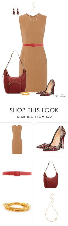 """Untitled #5210"" by ksims-1 ❤ liked on Polyvore featuring Alexander Wang, Christian Louboutin, Orciani, Giani Bernini, Devon Leigh, Tory Burch and Kate Spade"