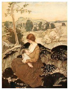 004-The springtide of life, poems of childhood (1918)- Arthur Rackham