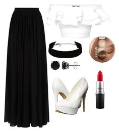 """""""Sassy choir"""" by whitegirl2001 ❤ liked on Polyvore featuring Elie Saab, Alexander McQueen, Michael Antonio, BERRICLE, Bourjois, MAC Cosmetics and standout"""