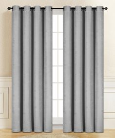 Take a look at this Light Gray Gianna Blackout Curtain Panel - Set of Two today!