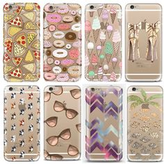 Fashion Cartoon Animal Pizza Ice-Cream Donuts Glasses Pattern Soft Silicone TPU Cover Case For Apple iPhone 5S SE 5C EC806 EC807