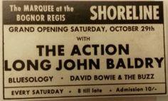 The Marquee at the Shoreline Club, Bognor Regis, October 1966