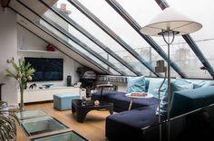réalisations : Atelier d'artiste ouvert et lumineux, Paris, Atelier Canopée