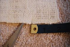 How to cut burlap straight and more burlap tips.