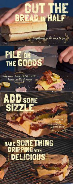 "The ""Barbe-Cuban"" Ham Sandwich recipe #cheese"