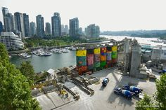 """""""Every city needs art and art has to be in the middle of the people"""" – OS GEMEOS, the artists behind the piece  """"Giants"""". It is part of Vancouver Biennale"""