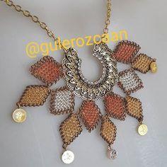 Crochet Necklace, Beaded Necklace, Chokers, Pendants, Embroidery, Jewelry, Instagram, Earrings Handmade, Punto De Cruz