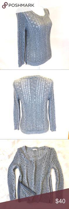 RACHEL ROY Side Zip Sweater, Blue EUC. Rachel Roy Side Zip Sweater, Sz S. Zips on both sides of torso. RACHEL Rachel Roy Sweaters