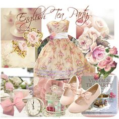 """Vintage, Tea Party, Lady."" by shirkeynan on Polyvore"