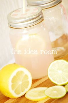 Mason Jar Party Drinks