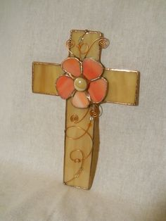 Stained Glass Cross Wall Hanging via Etsy