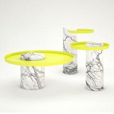 design du marbre, table d'appoint en marbre, Salute,Sebastien Heckner
