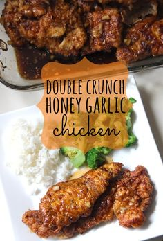 MADE, Justin LOVED, said he could drink the sauce - Double Crunch Honey Garlic Chicken! A remake of the very popular pin from Rock Recipes! I Love Food, A Food, Cooking Recipes, Healthy Recipes, Rock Recipes, Cooking Ideas, Delicious Recipes, Sweet Recipes, Honey Garlic Chicken