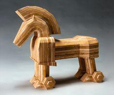 Trojan Horse by 'No Matter' Project, via Flickr Carlos Castaneda, Trojan Horse, Paper Models, Art Activities, Art Museum, Contemporary Art, Horses, Gifts, Popsicle Sticks