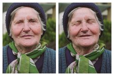 Old romanian woman begging for money on the streets of Bucharest. I kindly asked her to close her eyes and think of something beautiful... I was that mesmerized by her warm and beautiful face that I just couldn't ask what about she was thinking of ! I simply said thank you and went on...