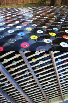 Recycled Vinyl Record Roof