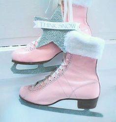 cherished*vintage: Think Snow. Pink Love, Pretty In Pink, For Elise, Fru Fru, I Believe In Pink, Everything Pink, Pink Christmas, Ice Skating, Roller Skating