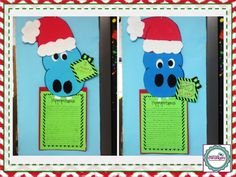 I Want a Hippopotamus for Christmas! Cute writing activity perfect for the holidays!