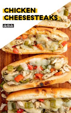 Cheesesteaks For when you need a break from red meat, but are CRAVING a cheesesteak.For when you need a break from red meat, but are CRAVING a cheesesteak. Chicken Cheesesteak Recipe, Gourmet Recipes, Cooking Recipes, Meal Recipes, Recipies, Dinner Recipes, Cooking Corn, Grilling Recipes, Healthy Recipes