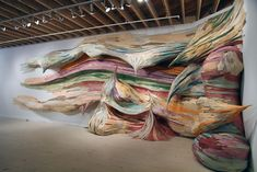 "Henrique Oliveira's ""Brushstroke"", 2011, Boulder Museum of Contemporary Art, Colorado/flexible plywood"